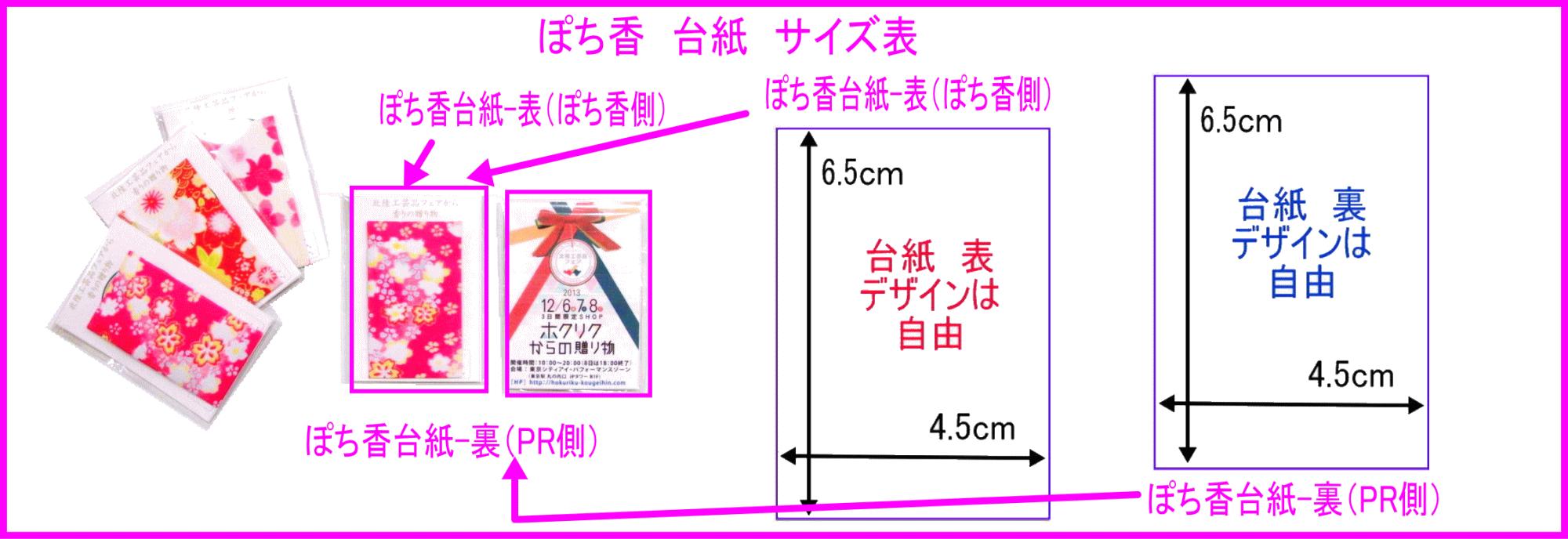 OEM ノベルティ ぽち香 台紙