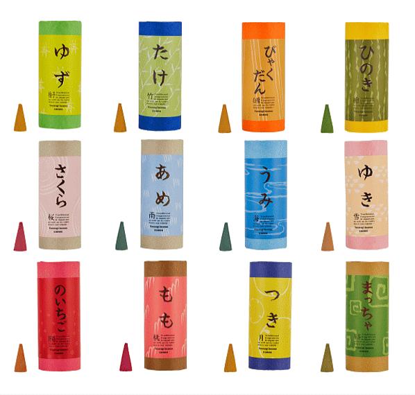 日本の和をテーマにしたお香「和」なごみシリーズ コーンタイプ