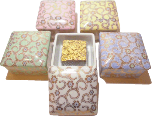 G-CUBE,ジーキューブ,九谷焼の香り箱 唐草五彩