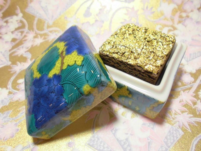 伝統工芸 金箔 G-CUBE、九谷焼の香箱