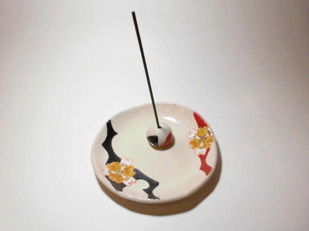 九谷焼-お香立て・香皿セットL