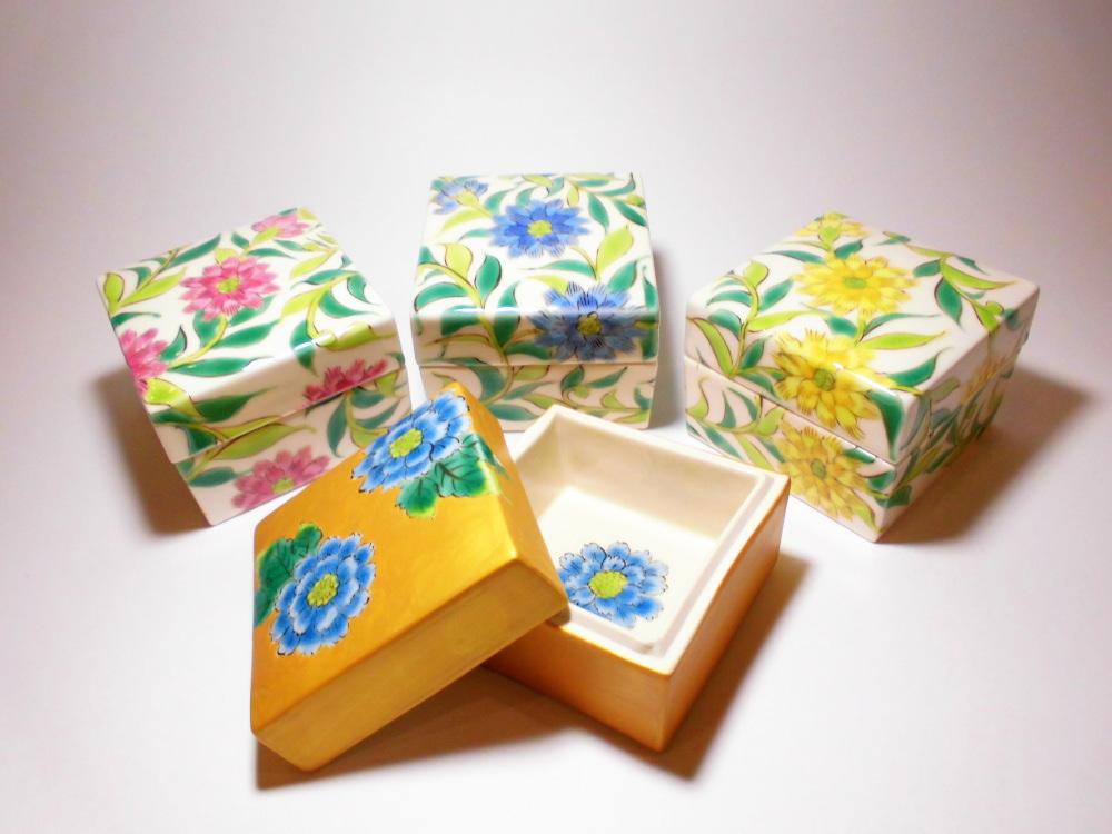 キューブ,九谷焼の香り箱 手書き九谷焼 中川眞理子