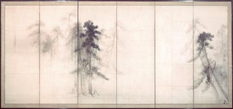 国宝 松林図屏風 長谷川等伯