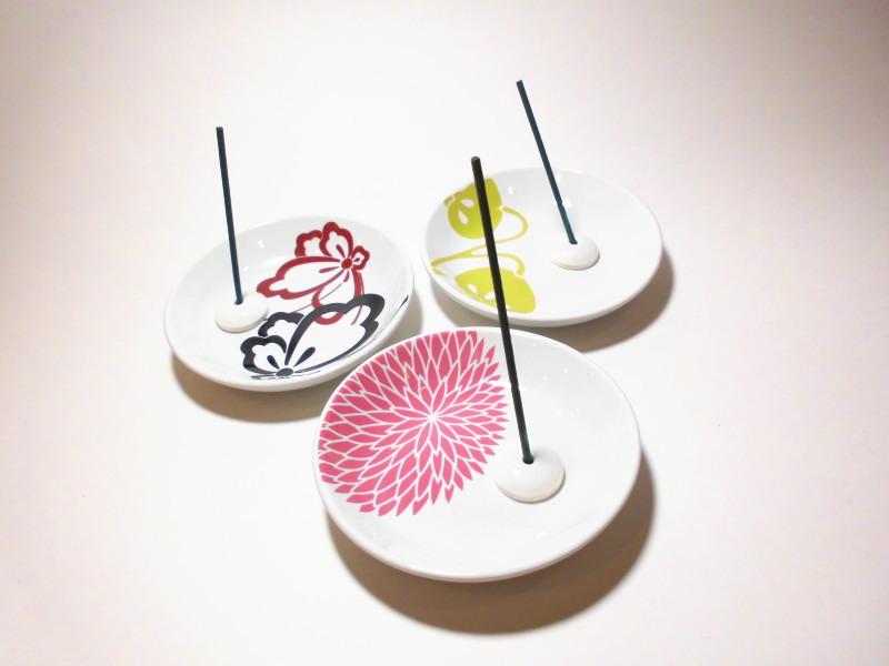 縁 伝統柄 香皿(穴開き)