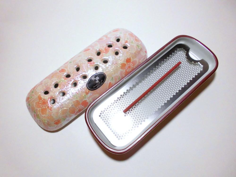 有田焼-お香皿-お香を寝かせて焚く香皿 雅桜