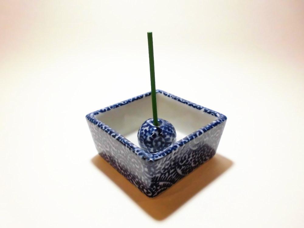 伝統工芸 美濃焼 香彩器角型-タコ唐草