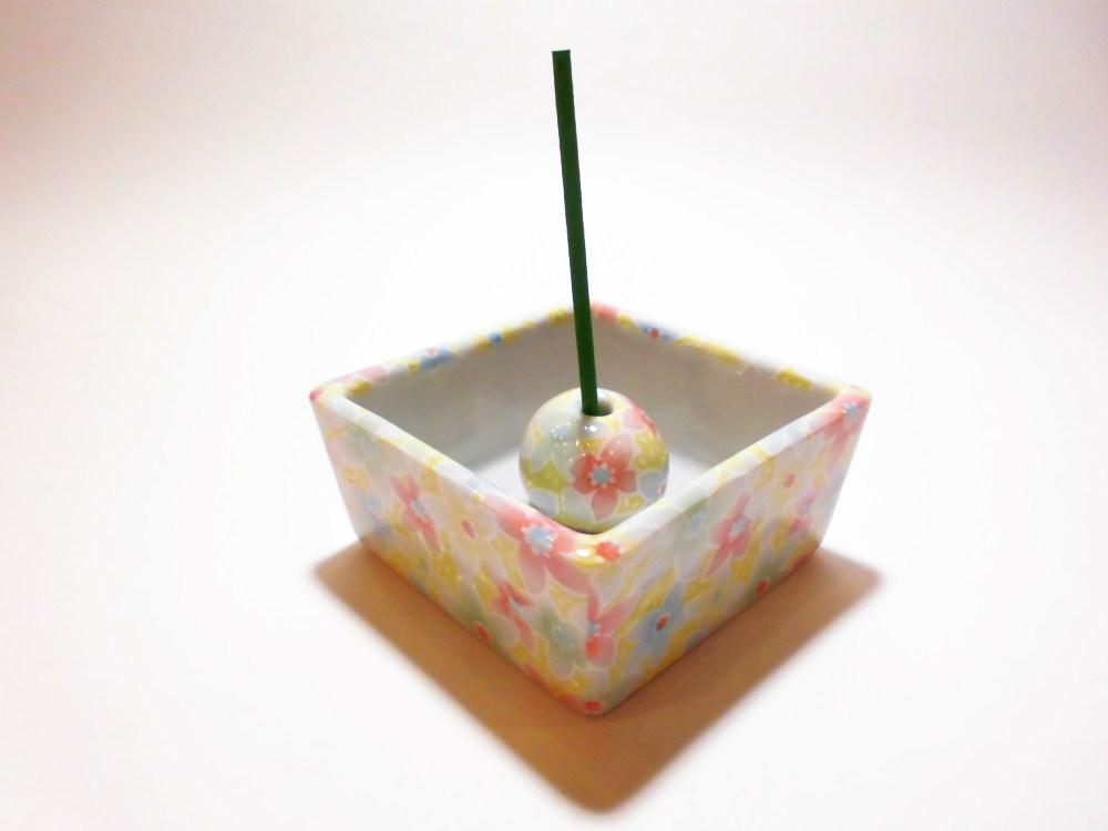 伝統工芸 美濃焼 香彩器角型-都わすれ