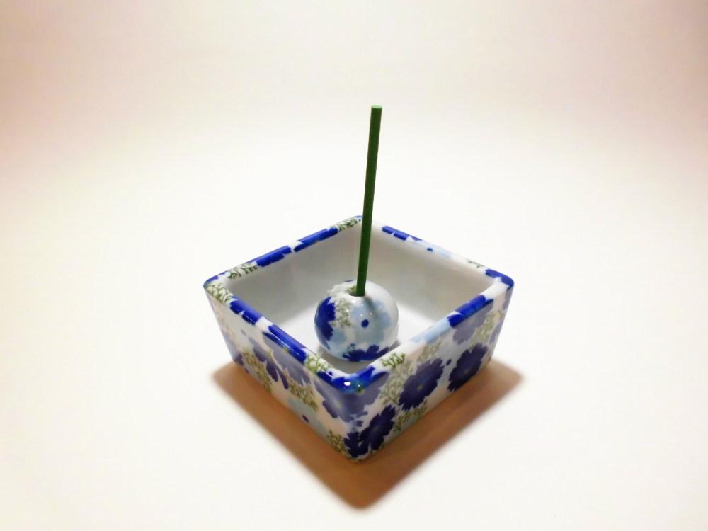 伝統工芸 美濃焼 香彩器角型-コスモス