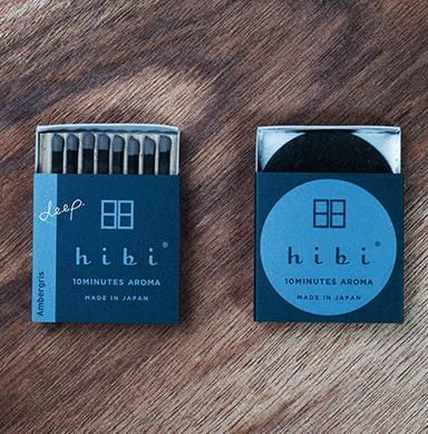 hibi 10minutes aroma マッチのお香 アンバー