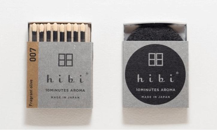hibi 10minutes aroma マッチのお香 Fragrant Olive(金木犀)