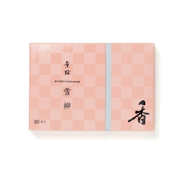 京都松栄堂の薫路スティック80本雪柳